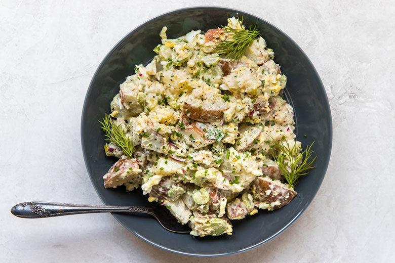 Lightened-Up Potato Salad - Food & Nutrition Magazine - Stone Soup