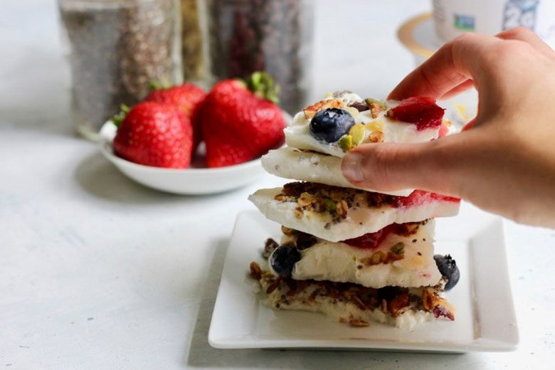 Protein packed yogurt bark - Food & Nutrition Magazine - Stone Soup