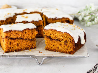 Pumpkin Cinnamon Roll Cake - Food & Nutrition Magazine - Stone Soup
