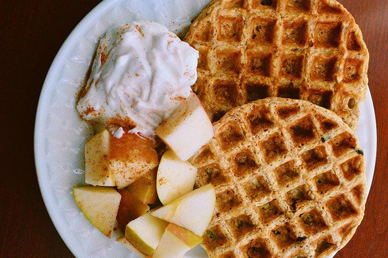 Pumpkin Oat Waffles - Food & Nutrition Magazine - Stone Soup