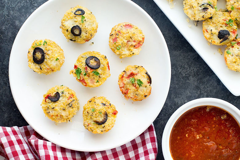 Cheesy Quinoa Pizza Bites - Food & Nutrition Magazine - Stone Soup