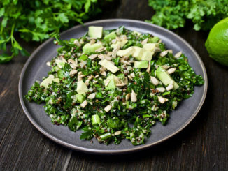 Quinoa and fresh herb salad on plate