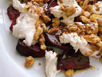 Roasted Beets and Burrata with Honey-Balsamic Vinaigrette - Food & Nutrition Magazine - Stone Soup