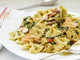 Mediterranean-Inspired Salmon Pasta