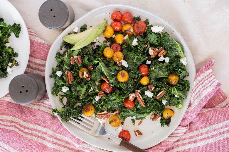 Sautéed Kale Salad - Food & Nutrition Magazine - Stone Soup