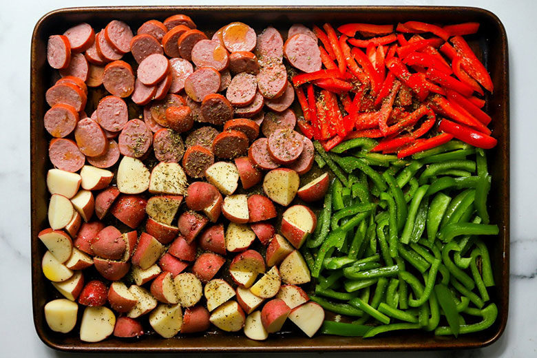 Sheet Pan Sausage and Potatoes - Food & Nutrition Magazine - Stone Soup