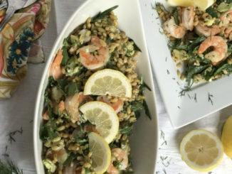 Shrimp with Avocado, Lemon and Dill
