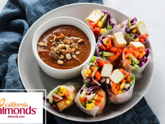 Spring Rolls with Almond Butter Dipping Sauce