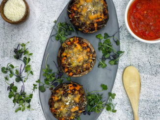 Quinoa & Veggie Stuffed Portabellas- Food & Nutrition Magazine - Stone Soup