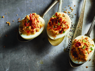 Sun-Dried Tomato Stuffed Eggs