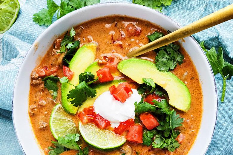 Creamy Taco Soup - Food & Nutrition Magazine - Stone Soup