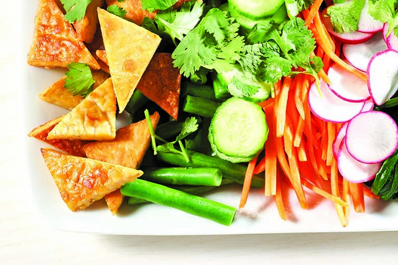 Tempeh with Vegetables and Peanut Sauce | Food & Nutrition Magazine | Volume 9, Issue 5