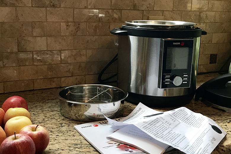 Fagor Multicooker on countertop with apples