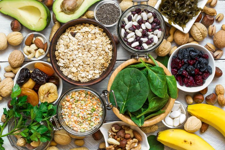 Food containing magnesium and potassium.