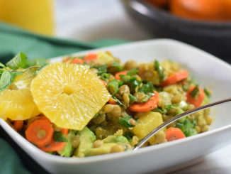 Triple Orange Lentil Salad