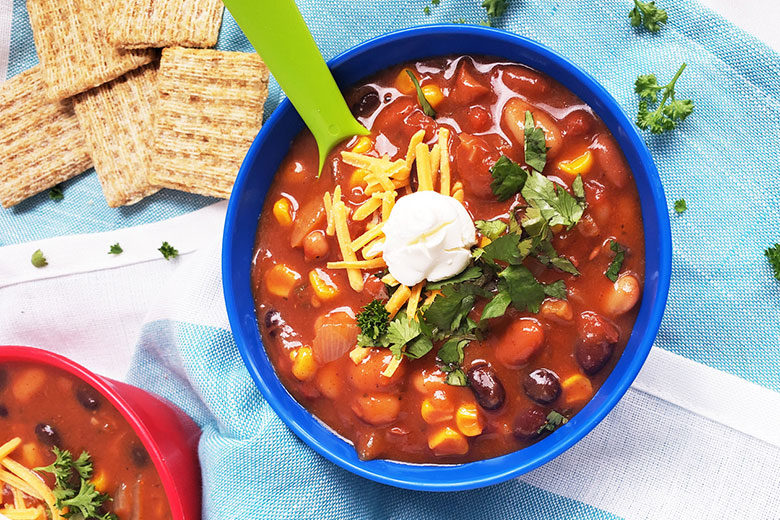Simple Vegetarian Taco Soup - Food & Nutrition Magazine - Stone Soup