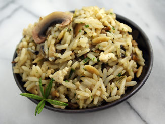 Long Grain & Wild Rice Rosemary Stuffing with Chicken & Mushroom