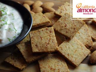 Cheddar Almond Flour Crackers