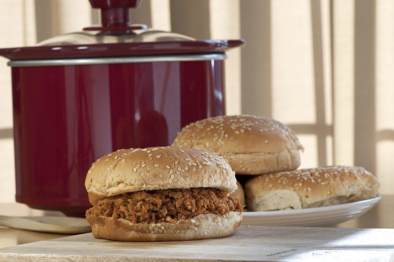 Crock-Pot BBQ Chicken Sandwich