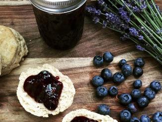 Fresh from the Farmers Market Blueberry-Lavender Jam