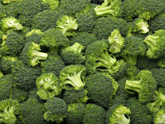 Fresh cut broccoli that makes a pattern