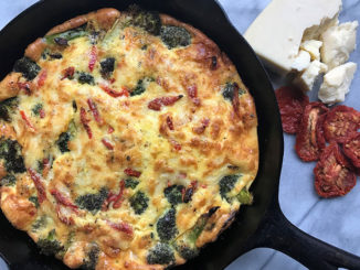 Roasted Broccoli, Sun-dried Tomato and Romano Frittata - Food & Nutrition Magazine - Stone Soup