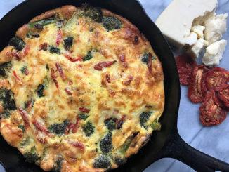 Roasted Broccoli, Sun-dried Tomato and Romano Frittata - Food & Nutrition Magazine - Stone Soup