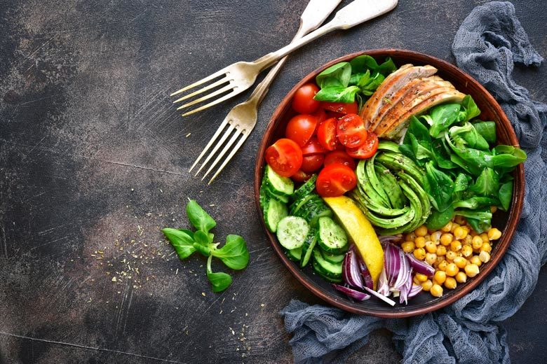 Salad with many ingredients