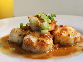 Orange Glaze with Seared Scallops