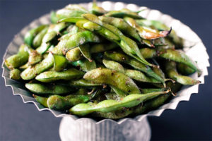 Wow Your Guests with Roasted Edamame with Togarashi
