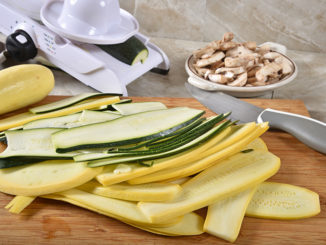 Sliced zucchini and summer squash