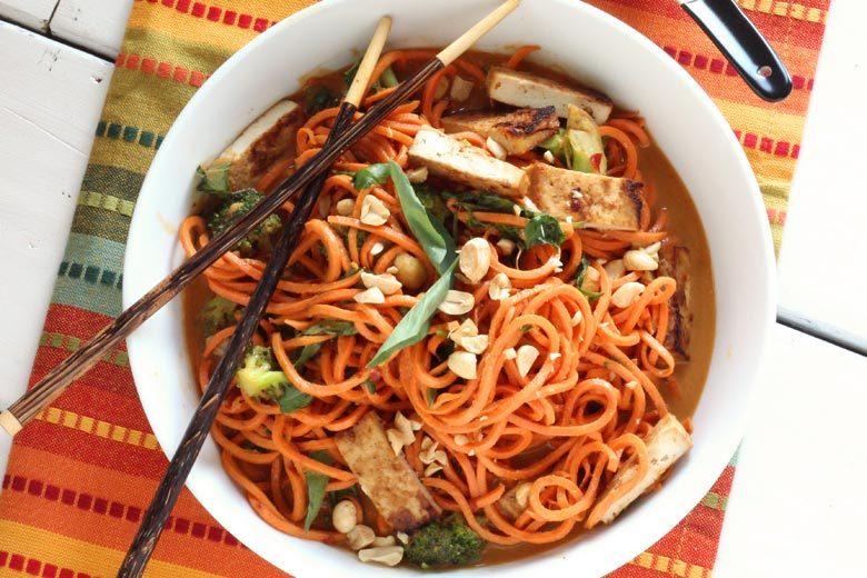 Sesame Peanut Sweet Potato Noodles | Food & Nutrition | Stone Soup