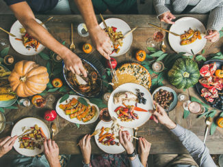 Traditional Thanksgiving or Friendsgiving holiday