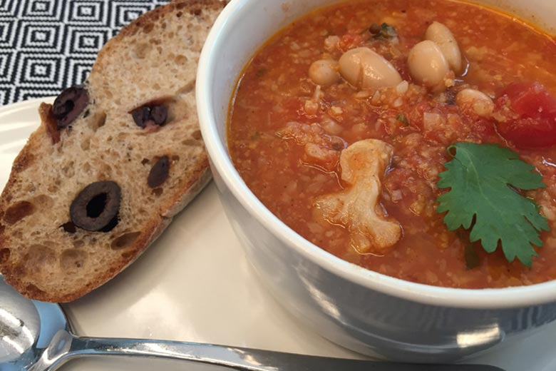 Tomato Soup with Roasted Cauliflower & Cannellini Beans   Food & Nutrition   Stone Soup