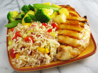 Apricot Pineapple Chicken with Sweet and Spicy Rice