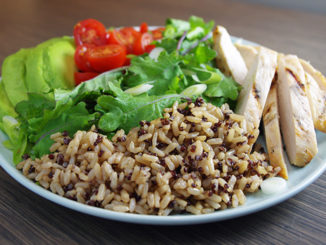 Brown Rice & Quinoa Grain Salad with Chicken & Avocado