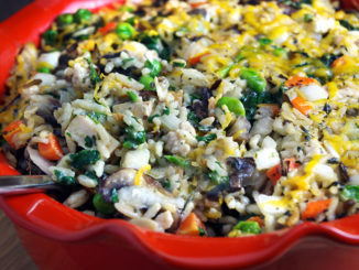 Super Veggie Chicken and Wild Rice Casserole