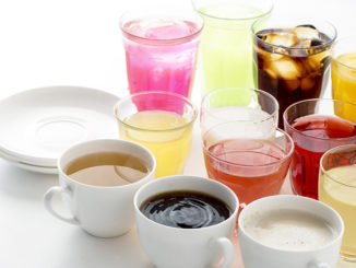 Many colorful drinks